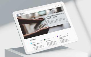 Tablet-Mockup der neuen Website des BDZV