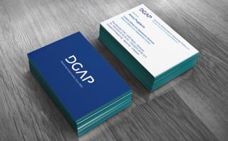 Visitenkarten im Corporate Design der Deutschen Gesellschaft für Auswärtige Politik