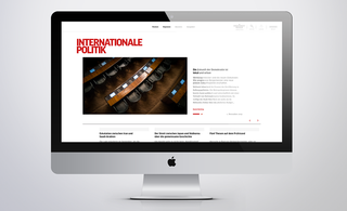 MockUp von der Website der Internationalen Politik