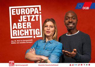 Dachmotiv DEUTSCHER GEWERKSCHAFTSBUND EUROPAWAHLKAMPAGNE 2019